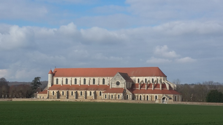 The Cistercian Abbey of Pontigny, near Chablis, originally founded as the summer residence of the monks of the Archbishopric of Cantebury, England